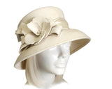 Softest Felt Bucket Cloche Hat - White