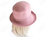 Ultra-Soft Felt Fedora Bucket Cloche Hat - Pink