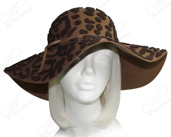 Mr. Song Millinery Soft Felt Wide Brim Floppy Hat - 4 Colors