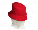 Softest Felt Bucket Style Hat - Red