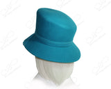 Softest Felt Slant Crown Hat - Turquoise Blue