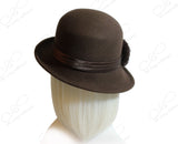 Softest Felt Fedora Bucket Cloche Hat - Brown
