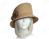 Softest Felt Slant Crown Hat - Camel Beige