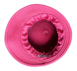 Bubble Cloche Hat With Rhinestone Drops - Fuchsia Pink