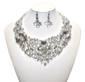 Mr. Song Millinery Necklace Jewelery & Earrings - Crystal