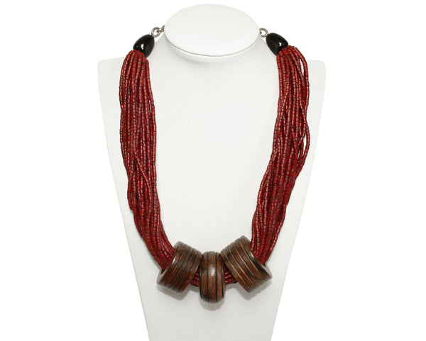 Mr. Song Millinery Multi-Layer Drape Necklace