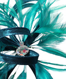 Feather and Ribbon Fascinator - 6 Colors
