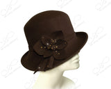 Soft As Cashmere Felt Bucket Cloche With Turned-Up Brim