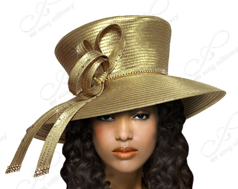 "Mr. Song Millinery ""Mad Hatter"" With Signature Accent - 2 Colors"