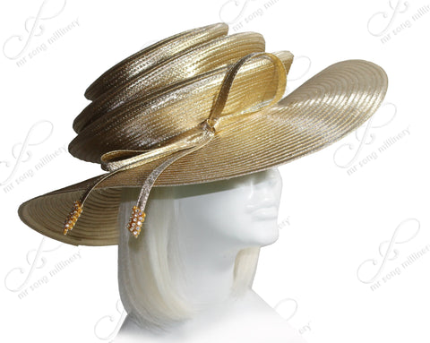 3-Tier Crown Medium Brim Hat - 3 Colors