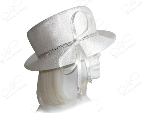 Mr. Song Millinery All-Season Small Brim Hat with Crystal Rhinestone - 7 COLORS