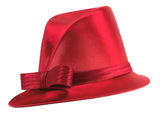 Satin Fedora with Bias Slant Brim - 4 Colors