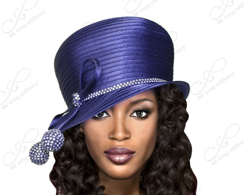 Bubble Cloche Hat With Rhinestone Drops - 3 Colors