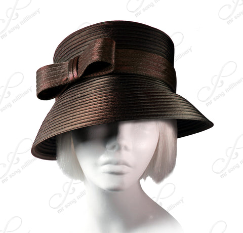 Medium Lampshade Brim With Sleek Bow Accent - 5 Colors