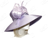 Wide Tiffany Brim Hat With Modern Floral Accent - Assorted Colors