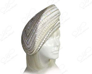 Mr. Song Millinery Rhinestone Pavéd Beret Style Hat - 2 COLORS