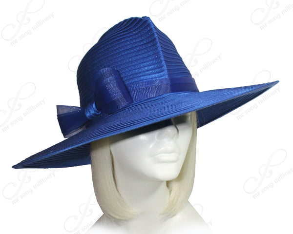 Mr. Song Millinery All-Season Fedora Crown Wide Brim Hat - 3 COLORS