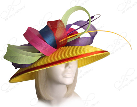 Mr. Song Millinery All-Season Wide Brim Hat With Signature Accents - 4 COLORS