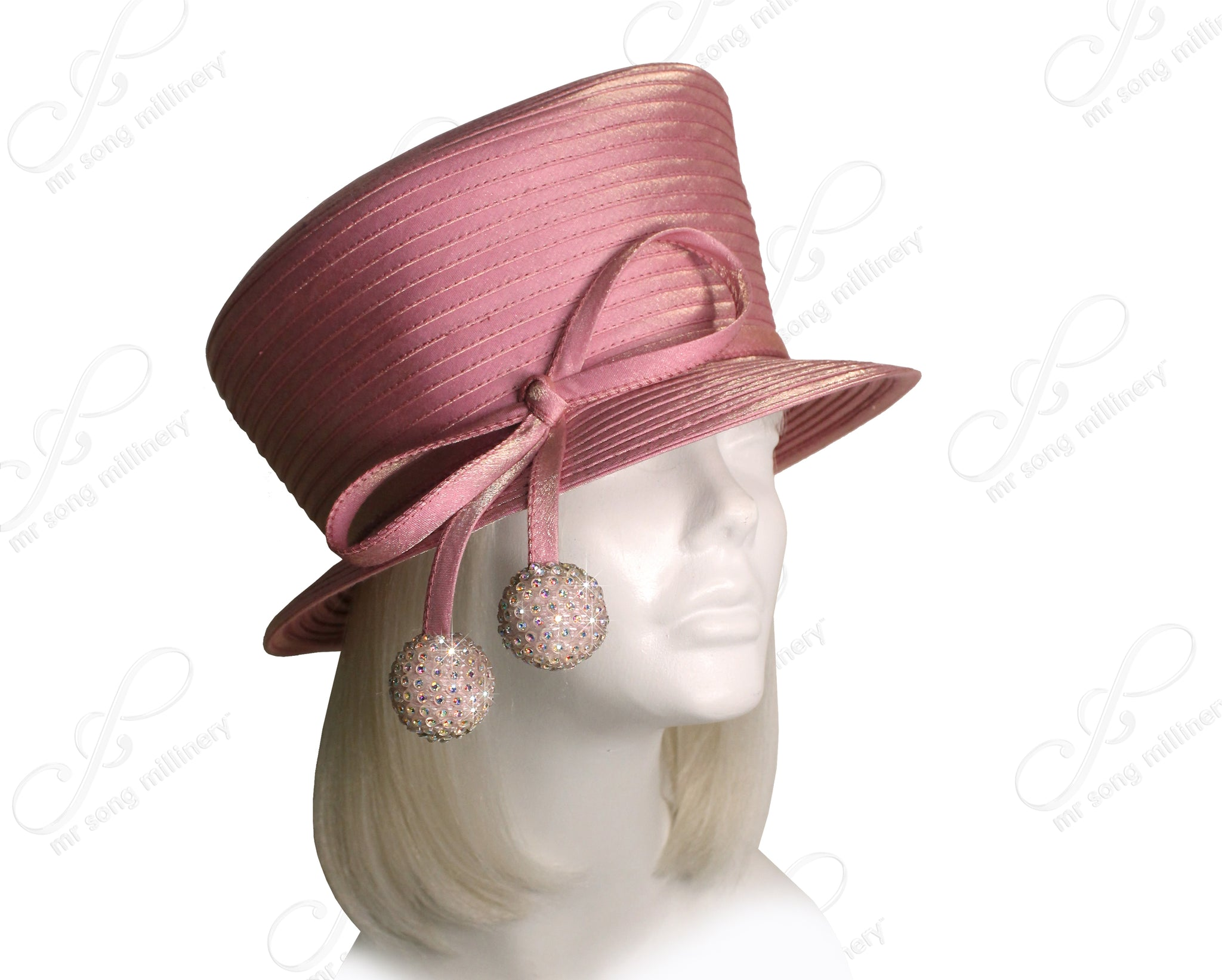 Mr. Song Millinery All-Season Small Width Brim Hat With Slant Top Crown - 3 COLORS