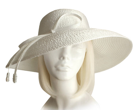 Round Crown Wide Width Tiffany Brim Hat Clearance - 4 Colors