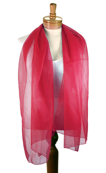 Mr. Song Millinery Long Sheer Elegant Chiffon Scarf Wrap - Solid Color - Assorted Colors