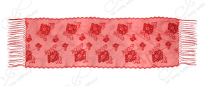 Mr. Song Millinery Sequin Lace Shawl Wrap Cape Drape - Red