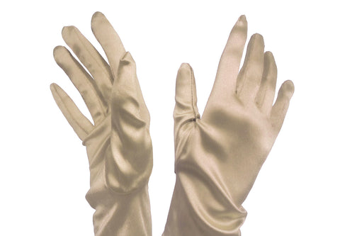 Satin Stretch Opera-Length Gloves - Assorted Colors