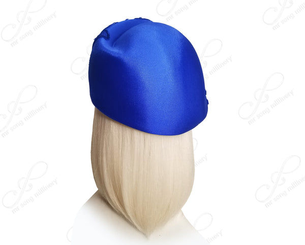Satin Beret Cloche Hat With Premium Lace - 3 Colors