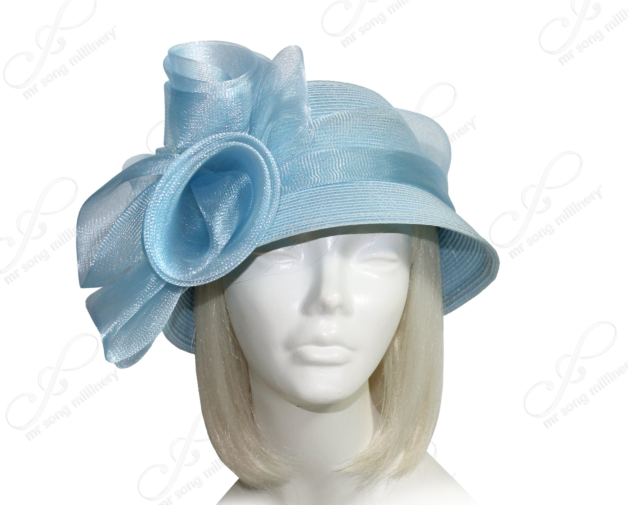 Mr. Song Millinery Derby/Ascot Tagline Straw Bell Cloche Hat - 4 COLORS