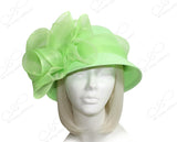 Derby/Ascot Tagline Straw Bell Cloche Hat - 4 COLORS