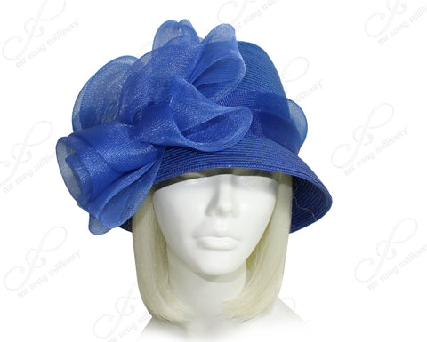 Derby/Ascot Tagline Fedora Bell Cloche Hat - 2 COLORS