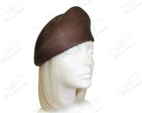 Tagline Straw Structured Beret Cloche Hat Body - Assorted Colors