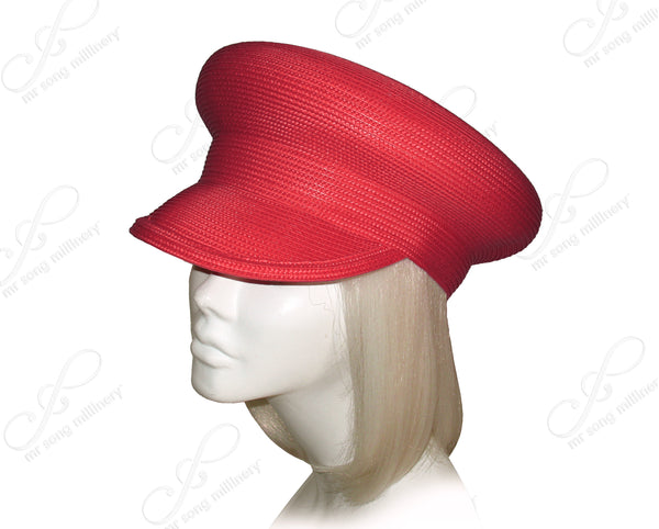 "Mr. Song Millinery Tagline Straw ""Captain"" Bib-Hat Body - Assorted Colors"