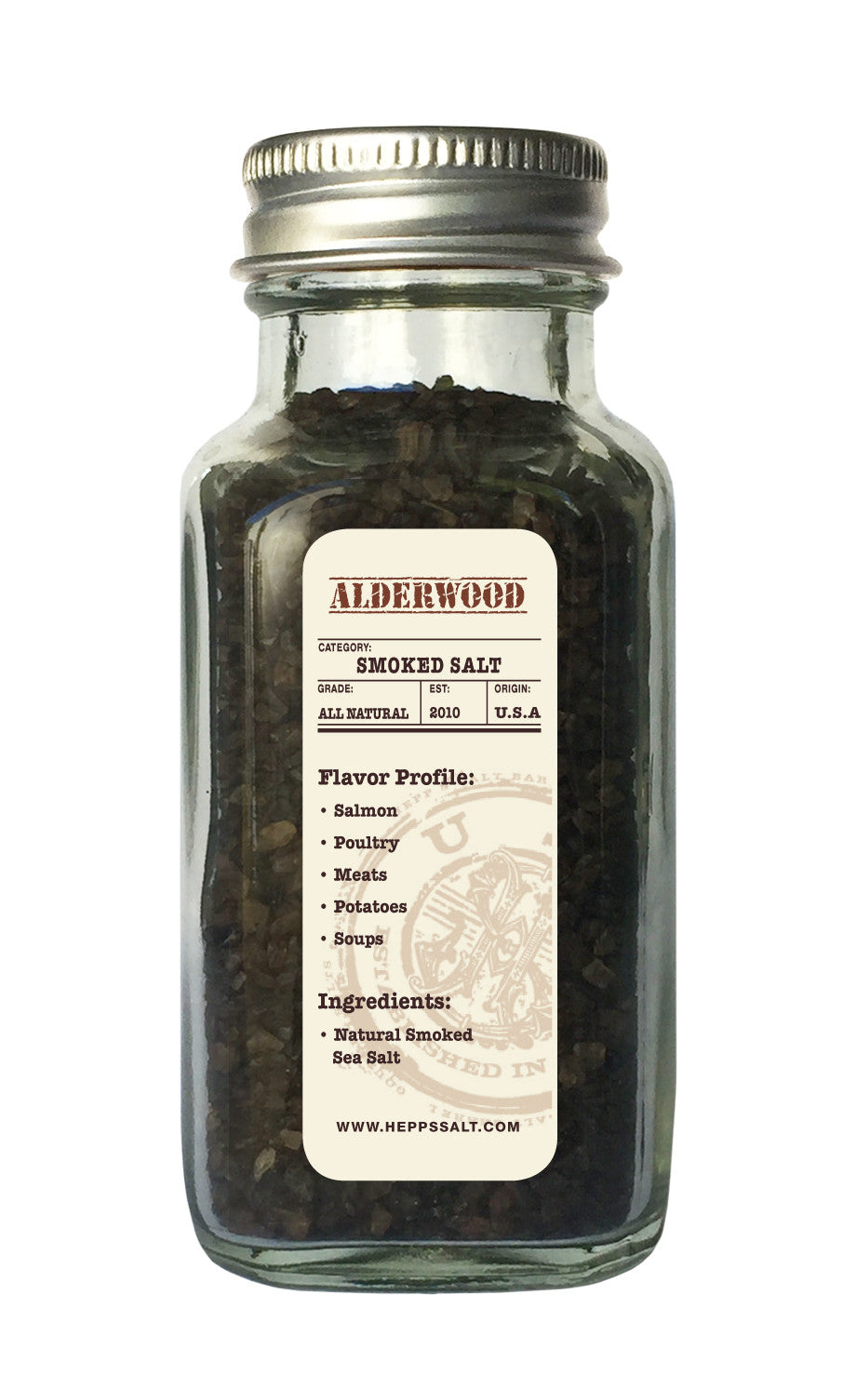 Alderwood Smoked Sea Salt - HEPPS SALT CO.