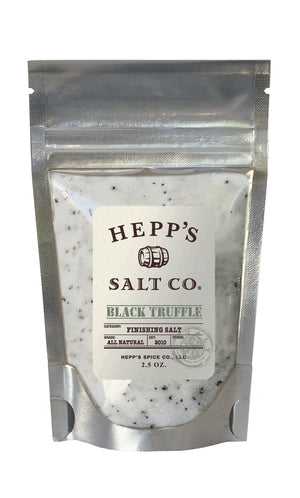 Black Truffle Sea Salt 2.5 Pouch - HEPPS SALT CO.