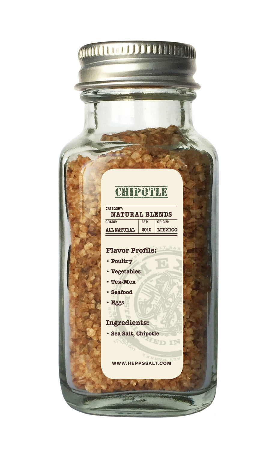 Chipotle Sea Salt - HEPPS SALT CO.