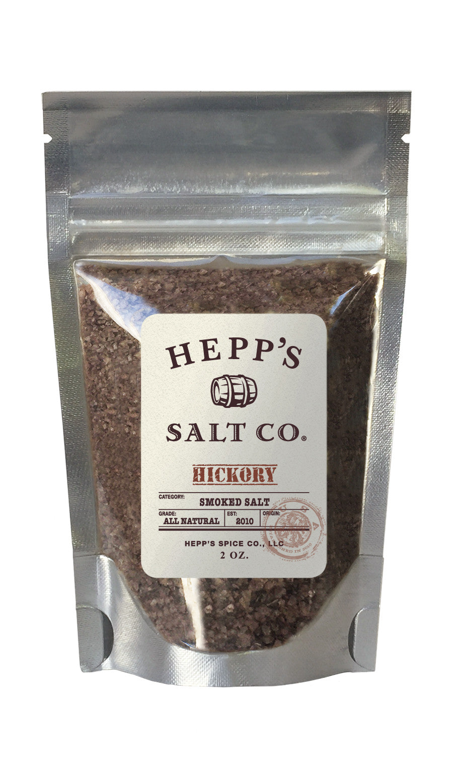 Hickory Smoked Sea Salt - HEPPS SALT CO.