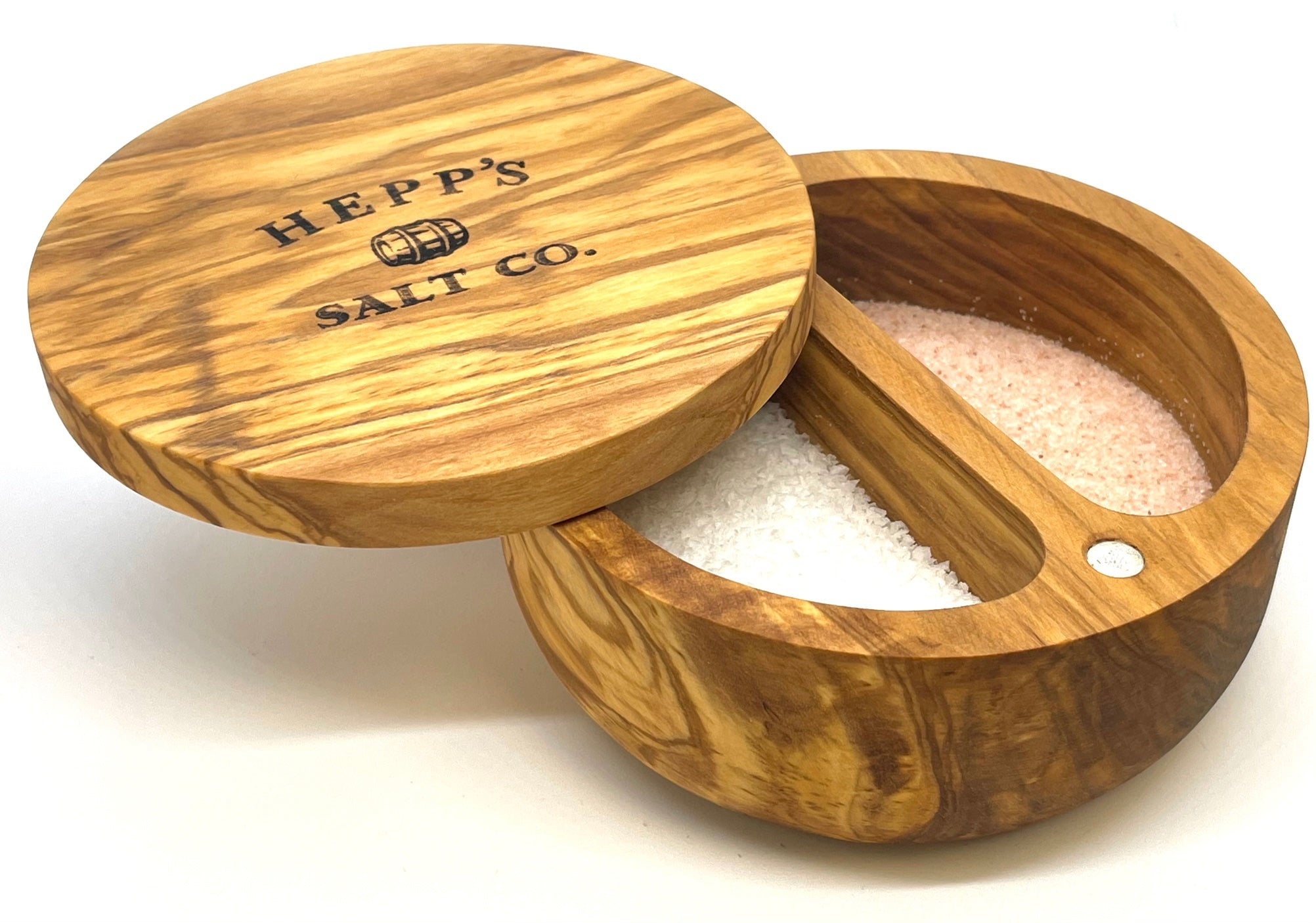 Olive Wood Wooden Salt Box - HEPPS SALT CO.