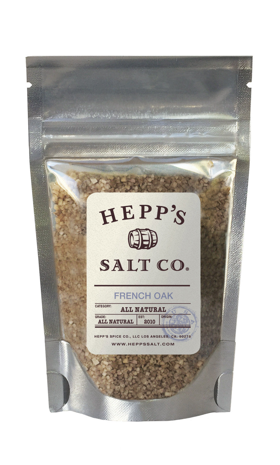 French Oak Smoked Sea Salt - HEPPS SALT CO.
