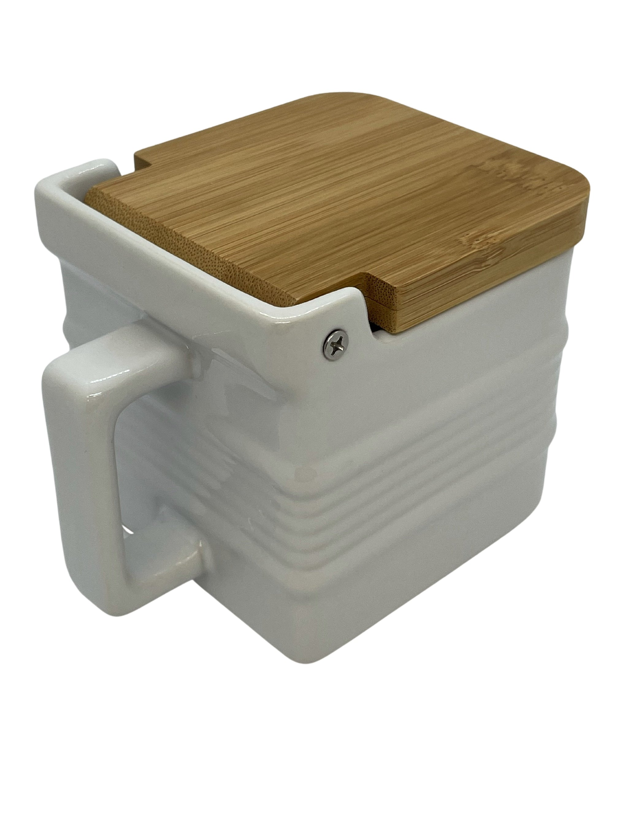 Hinged Bamboo Lid Salt Box - HEPPS SALT CO.