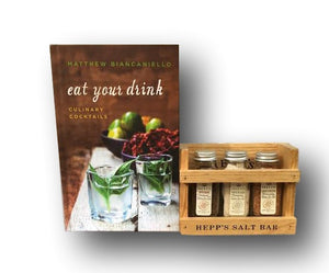 Eat Your Drink autographed copy Plus Mini Salt Bar - HEPPS SALT CO.