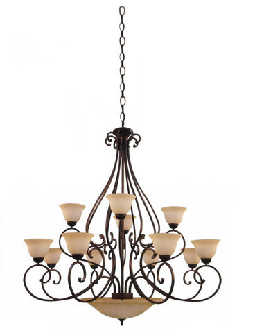 Decorative Chandelier in Oil Rubbed Bronze - LT2
