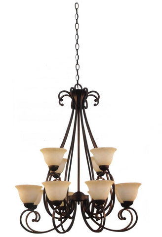 Decorative Chandelier Light Brushed NickeL - LT2