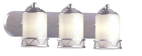 Contemporary Vanity Light  Brushed Nickel - LT4