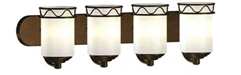 Contemporary Vanity Light  Oil Rub Bronze - LT4