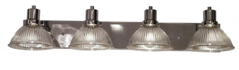 Contemporary Vanity 4-light Chrome Clear Ribbed - LT4