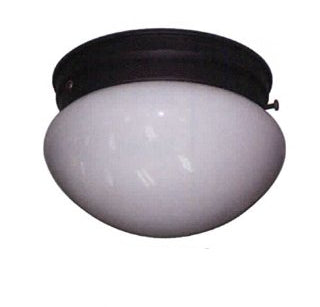 "7 1/2"" Mushroom Light Brushed Nickel Milk White - LT5"
