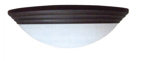 "11"" Decorative Alabaster Threaded Dome Light White - LT5"
