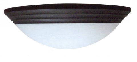 "13"" Decorative Alabaster Threaded Dome Light in Brushed Nickel - LT5"
