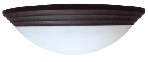 "15"" Decorative Alabaster Threaded Dome Light in Brushed Nickel - LT5"